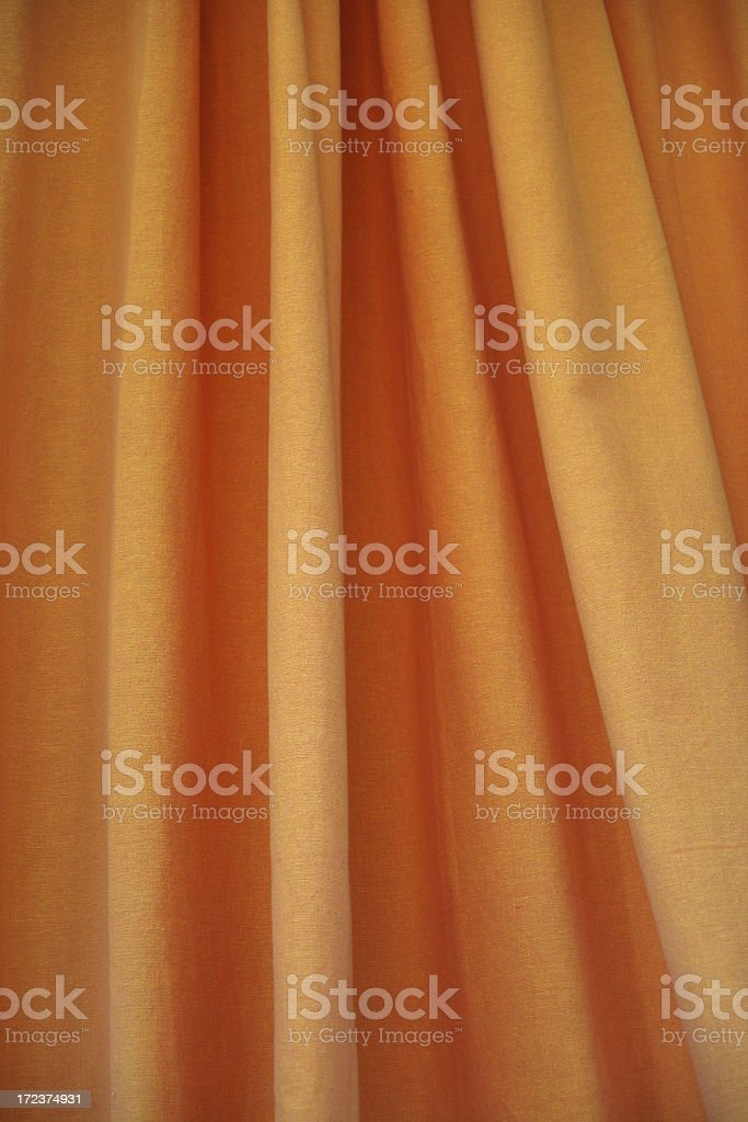 Orange curtain royalty-free stock photo