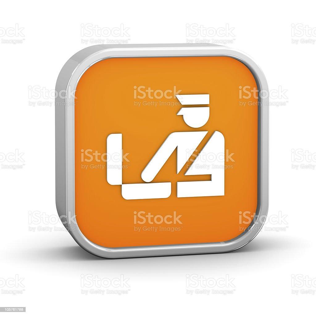 Orange Customs Sign royalty-free stock photo