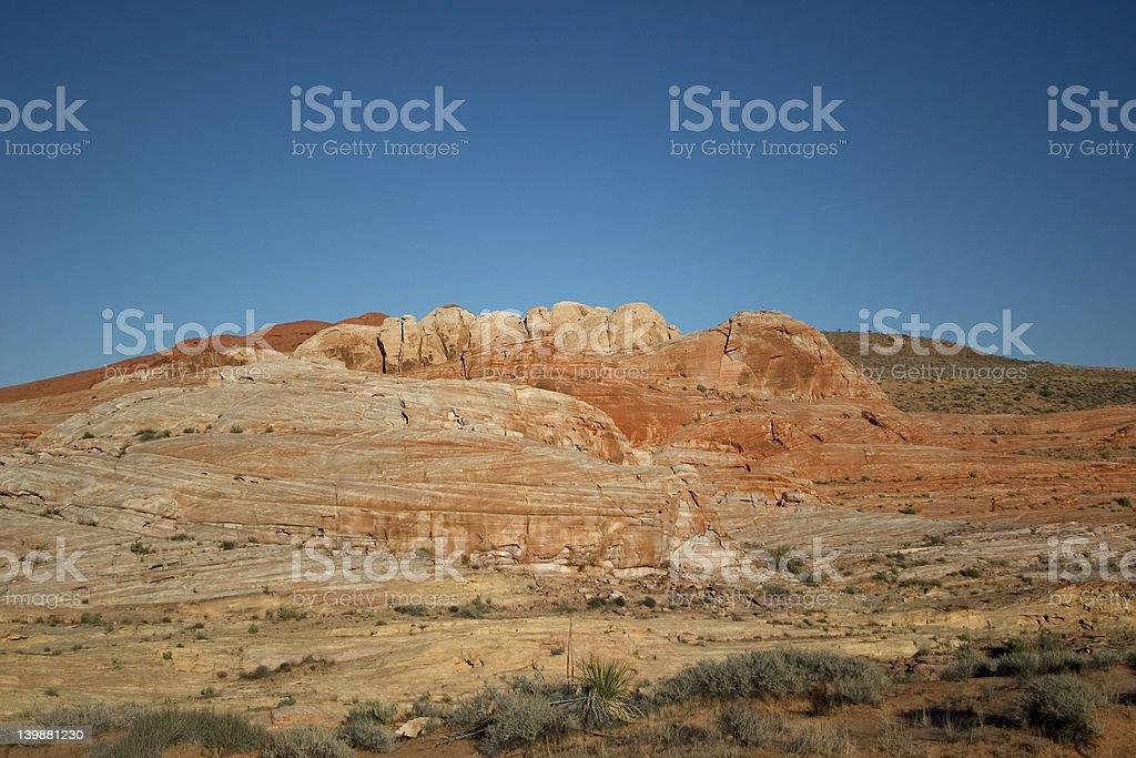orange desert hillside stock photo