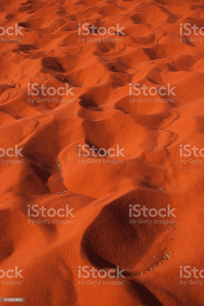orange desert's dune background, wadi rum stock photo