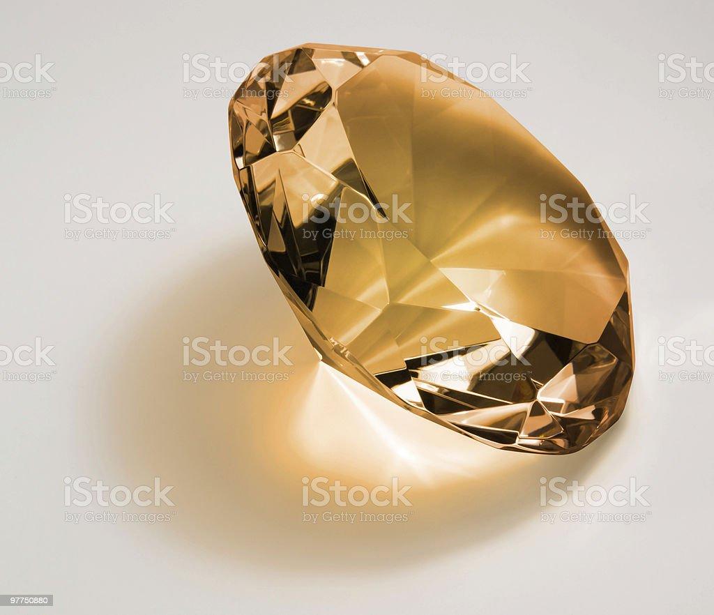 orange diamond in light back royalty-free stock photo