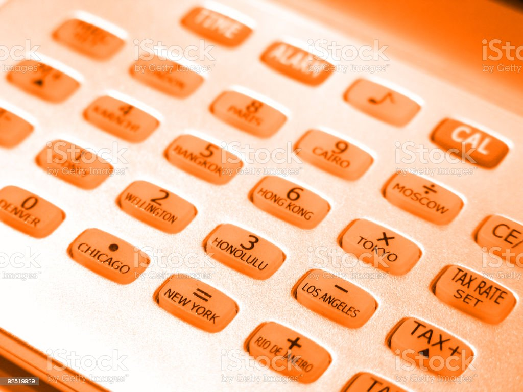 Orange digits royalty-free stock photo