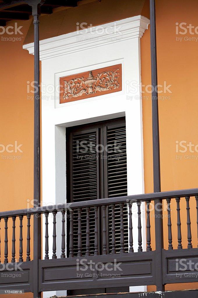 Arancio porta foto stock royalty-free