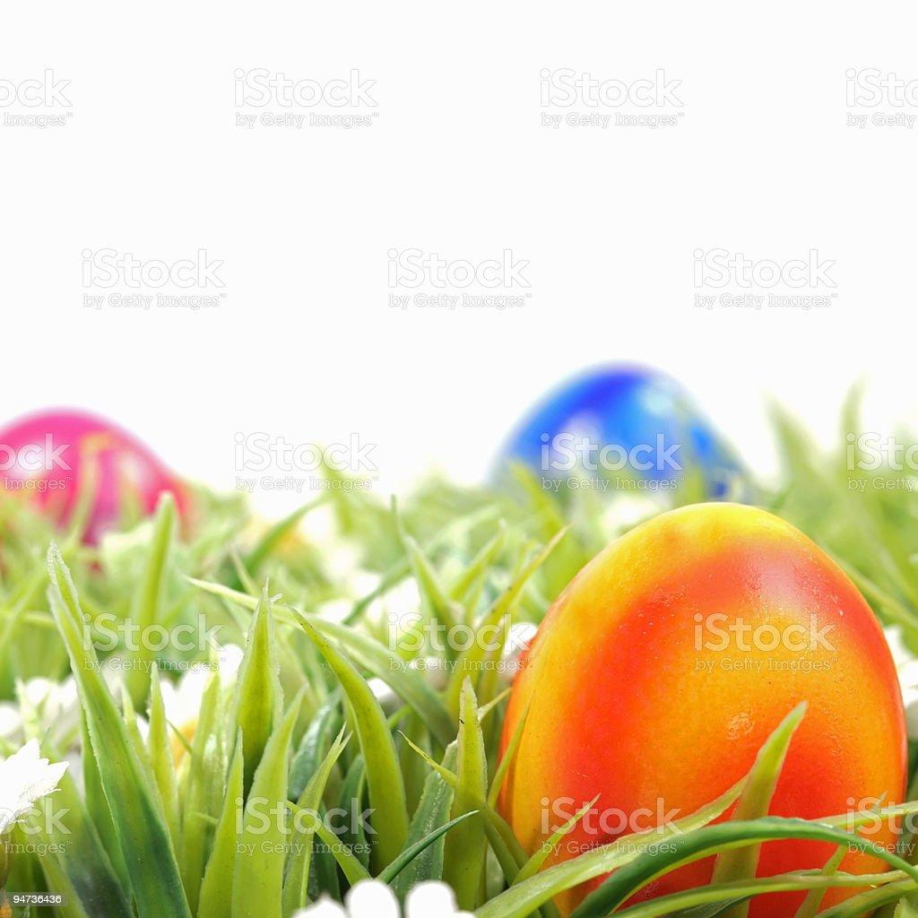 Orange Easter Egg royalty-free stock photo