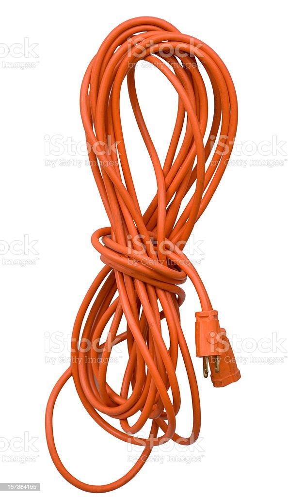 Orange Electrical Cord royalty-free stock photo