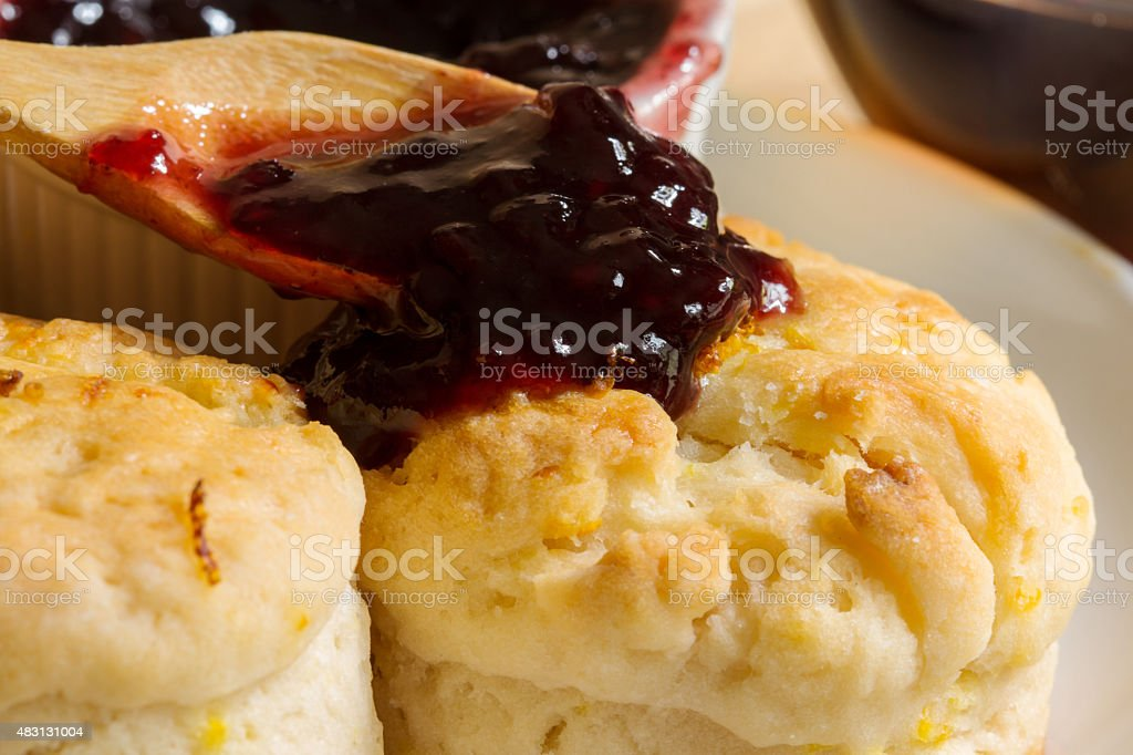 Orange English biscuit stock photo