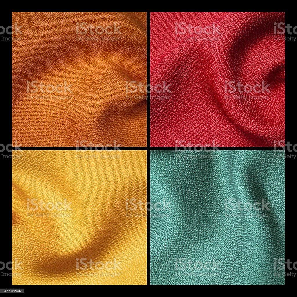 orange fabric sample royalty-free stock photo