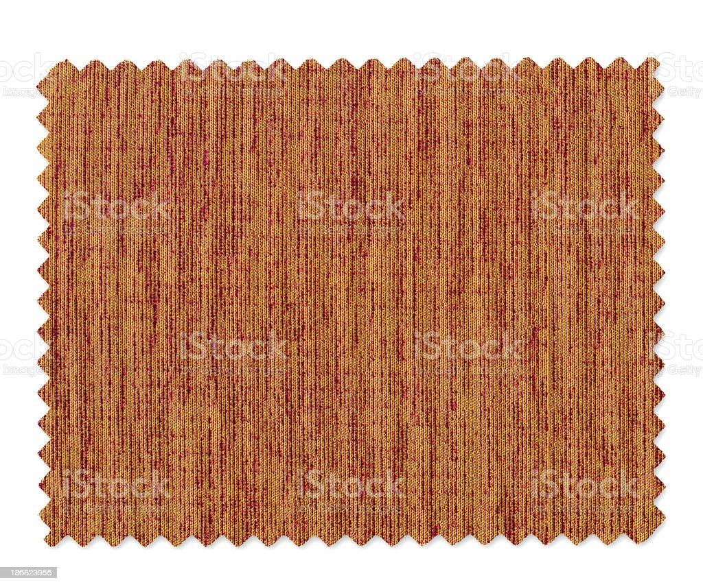 Orange Fabric Swatch royalty-free stock photo