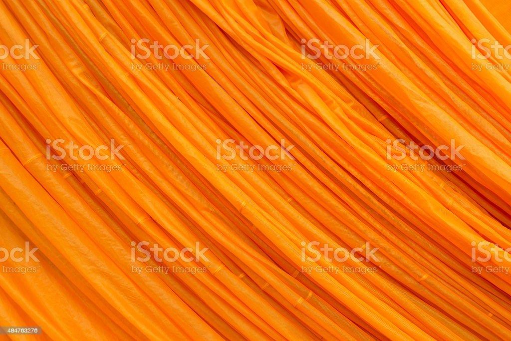 Orange fabric texture stock photo