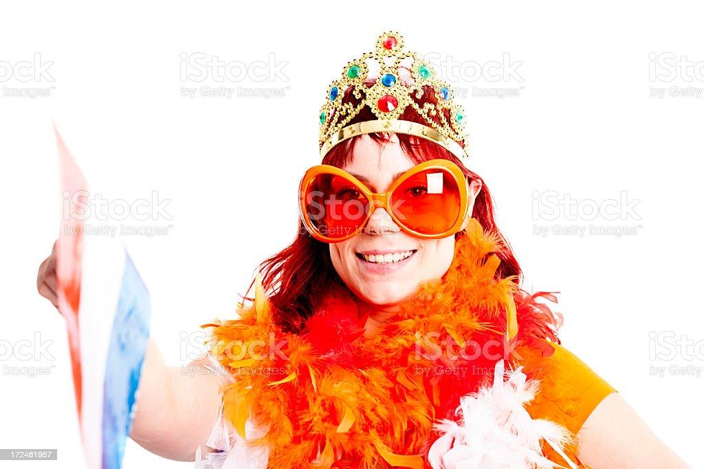 Orange fan stock photo