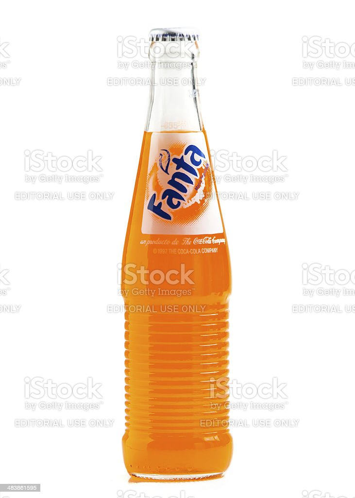 Orange Fanta royalty-free stock photo