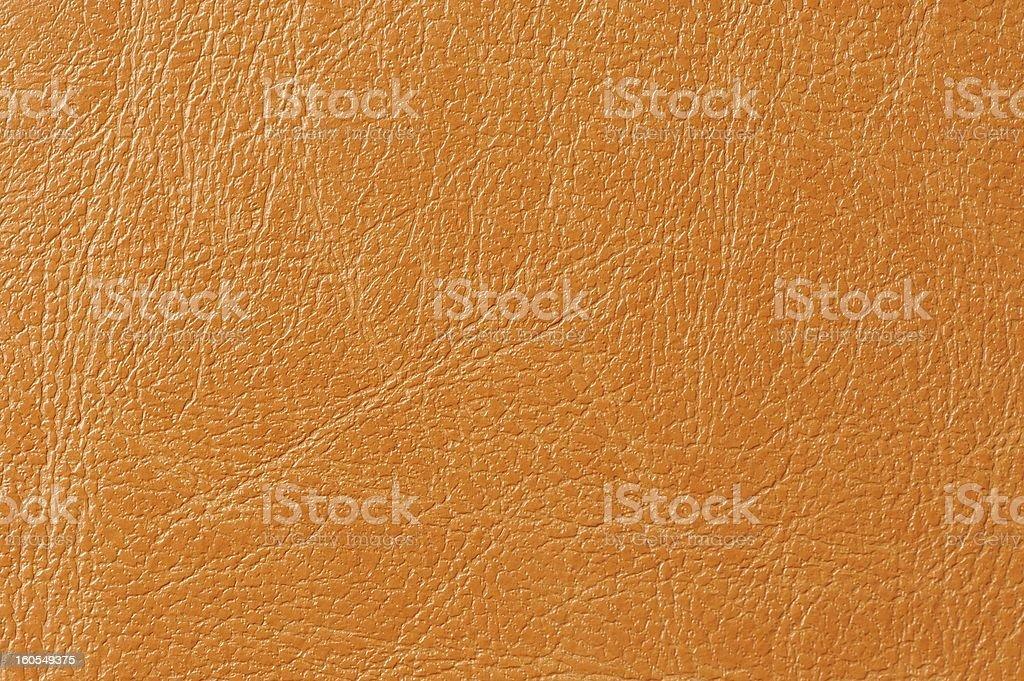 Orange Faux Leather Background Texture royalty-free stock photo