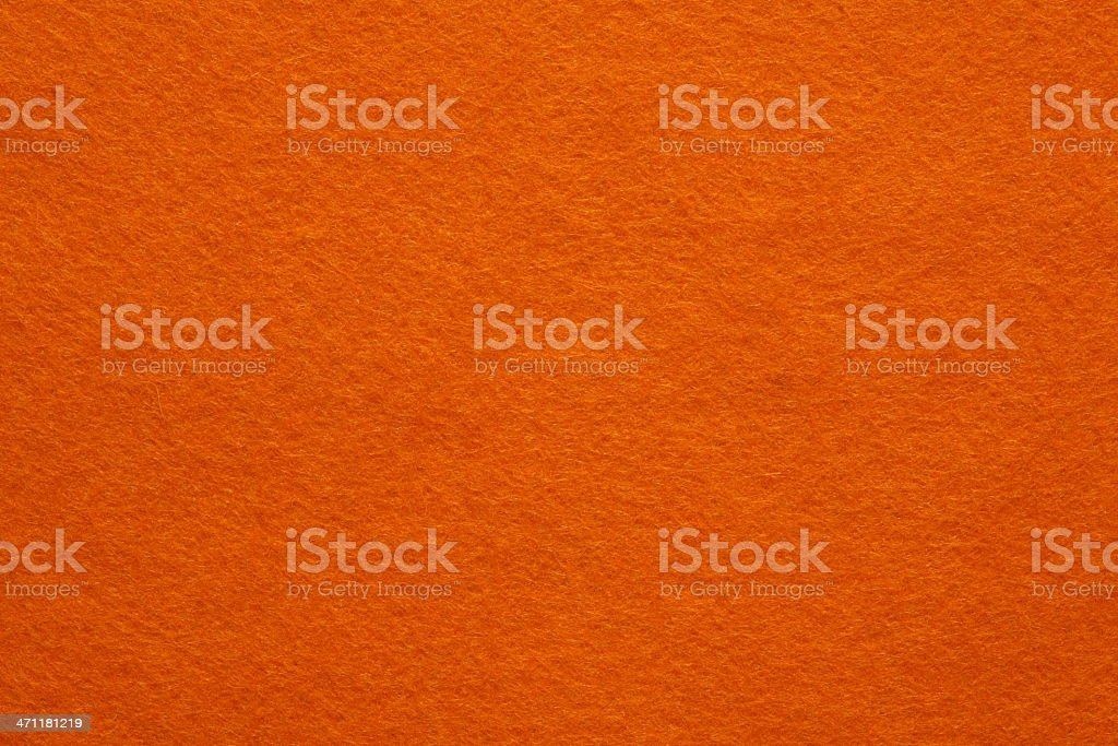 Orange Felt Background stock photo