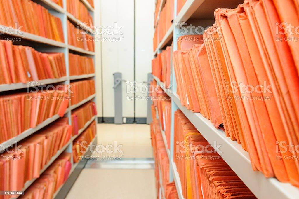 Orange files stock photo