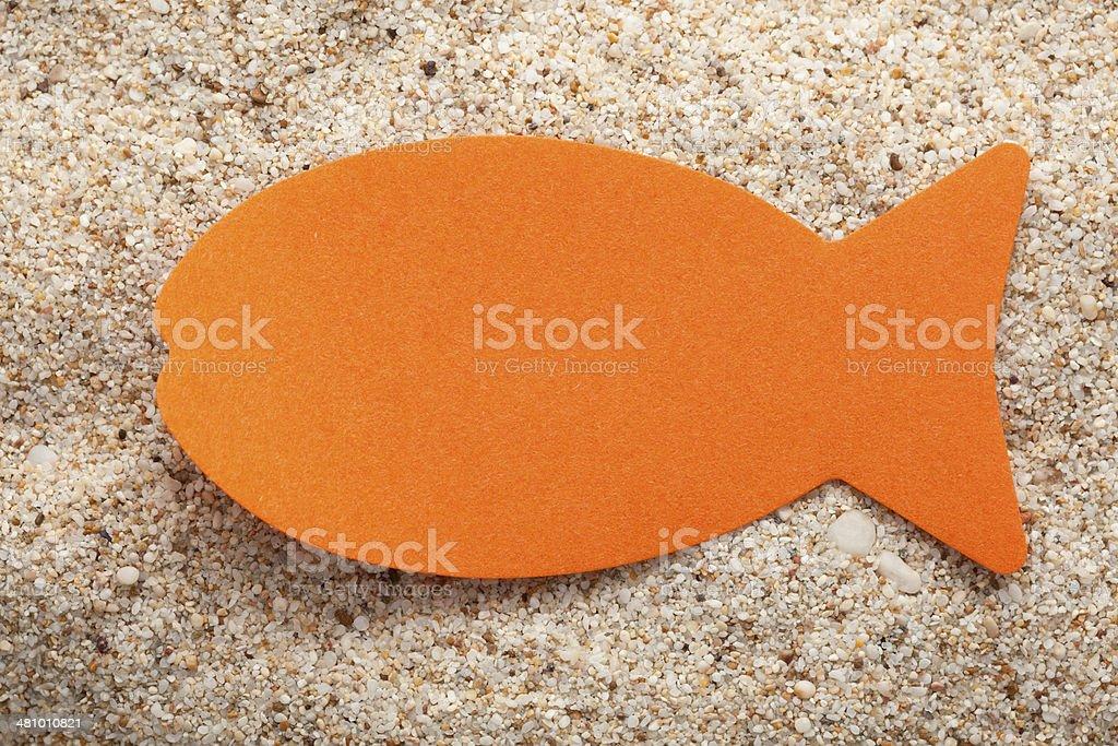 Orange fish stock photo