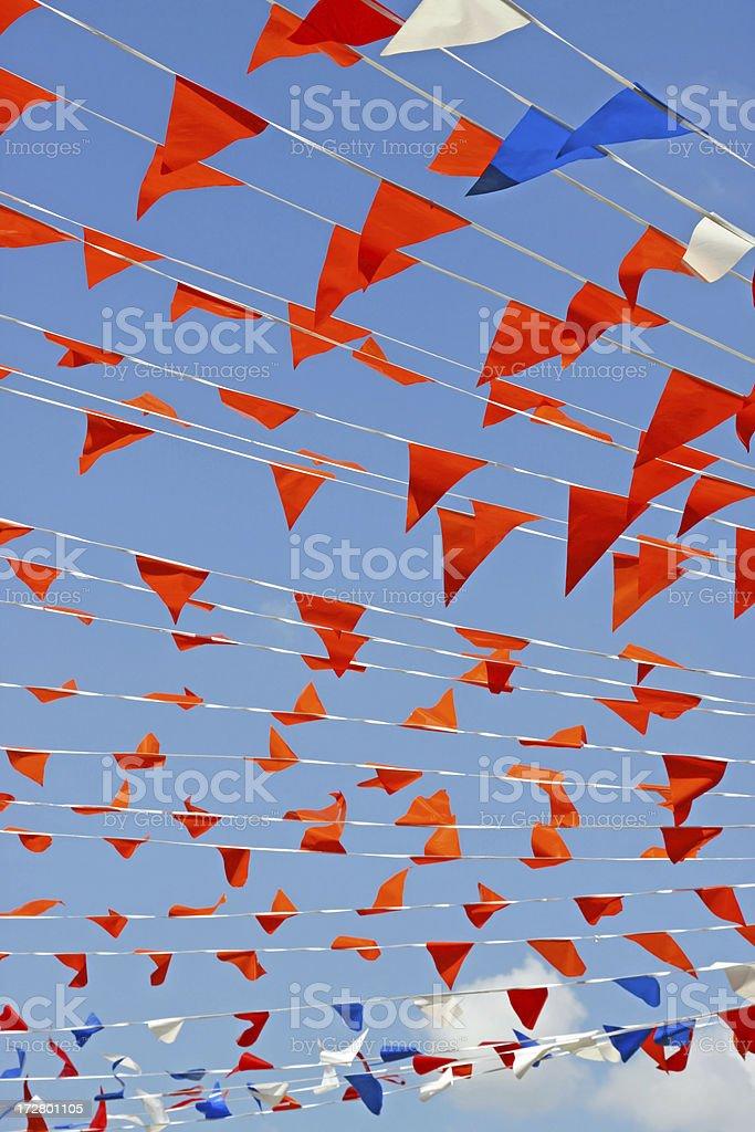 Orange flags # 2 XL royalty-free stock photo