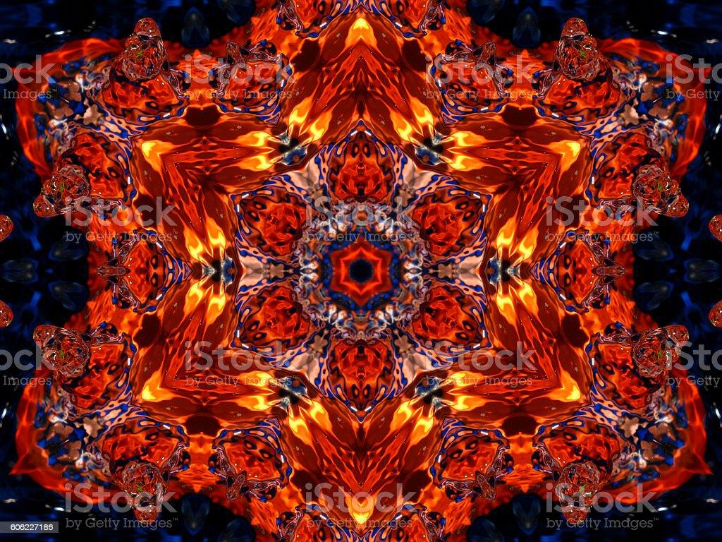 Orange flamboyant star background stock photo