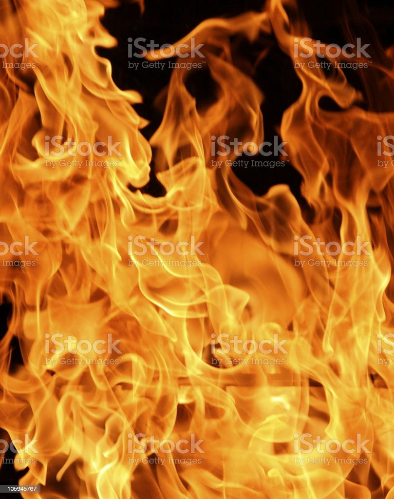 Orange flame or fire detail royalty-free stock photo