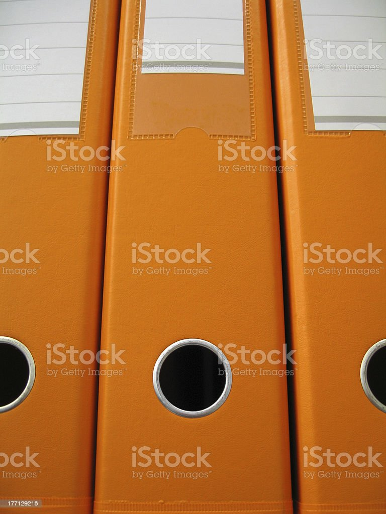 Orange Folders stock photo