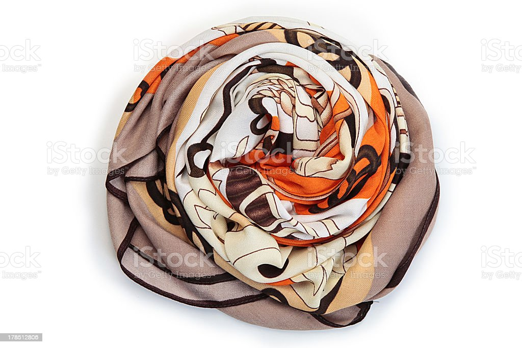 foulard naranja stock photo
