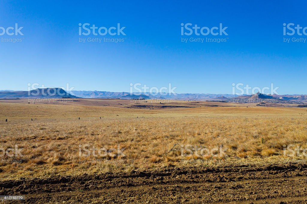 Orange Free State panorama, South Africa stock photo