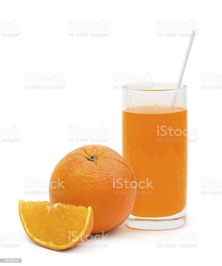 Orange fruit and cocktail royalty-free stock photo