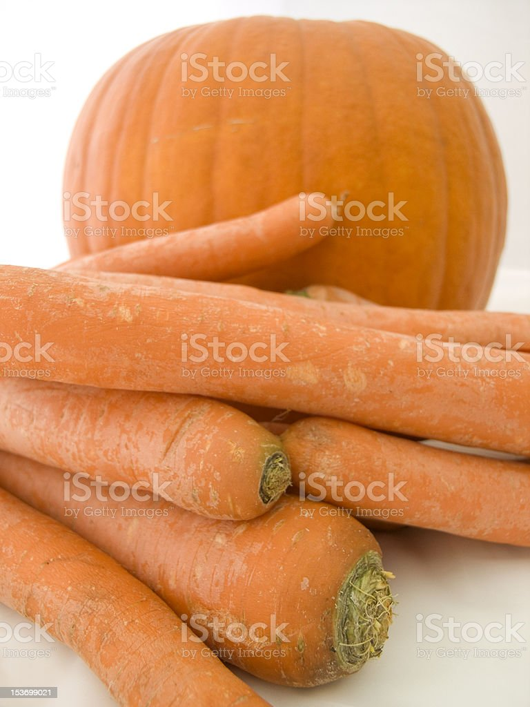 Orange fruit and vegetable stock photo