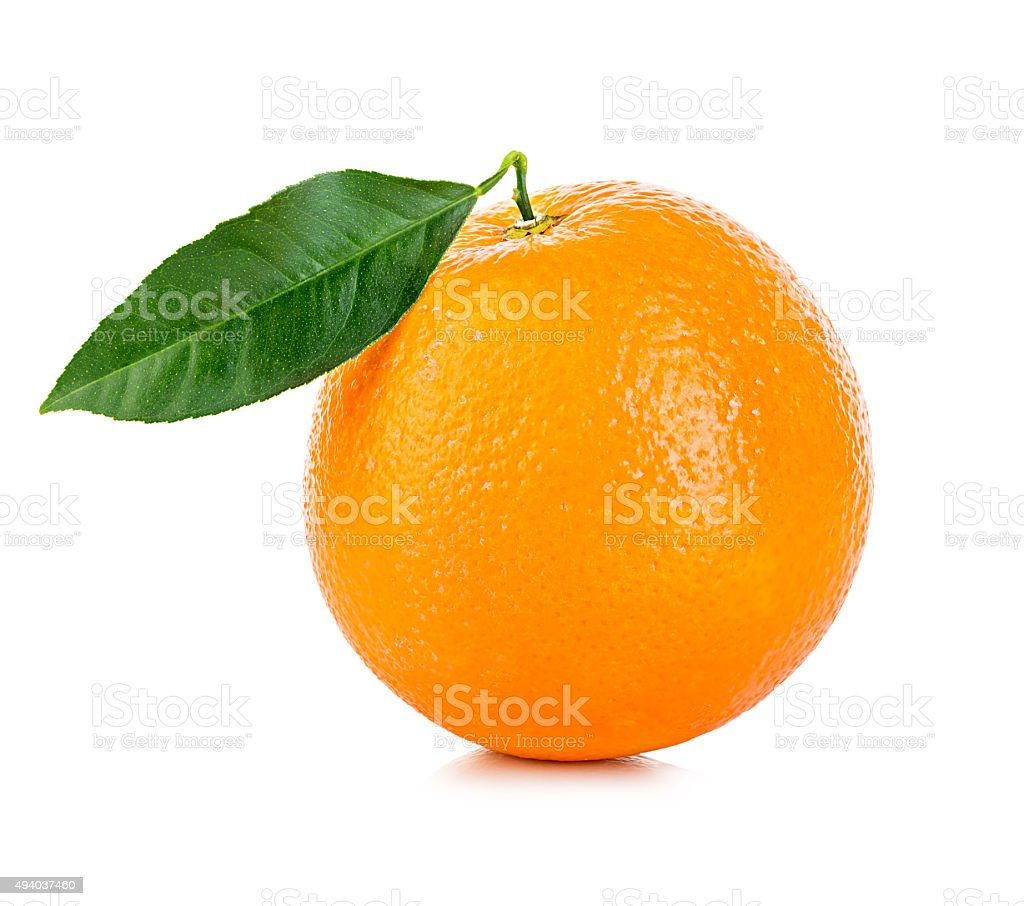 Orange fruit isolated on a white background. stock photo