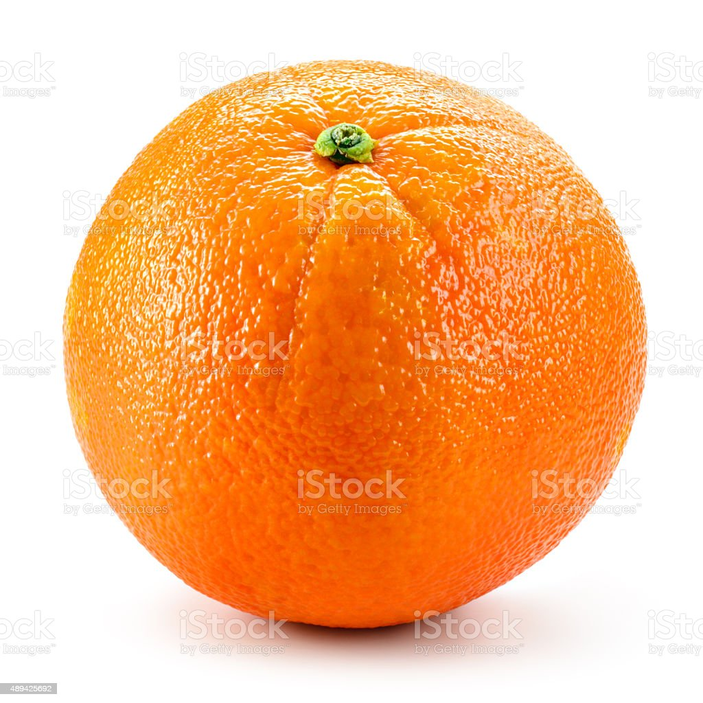 Orange fruit isolated on white background stock photo