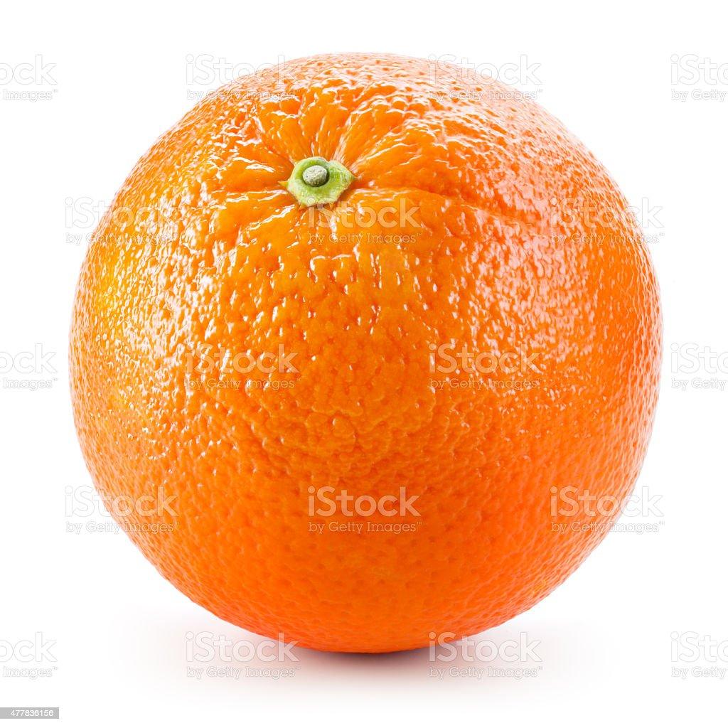 Orange fruit isolated on white stock photo