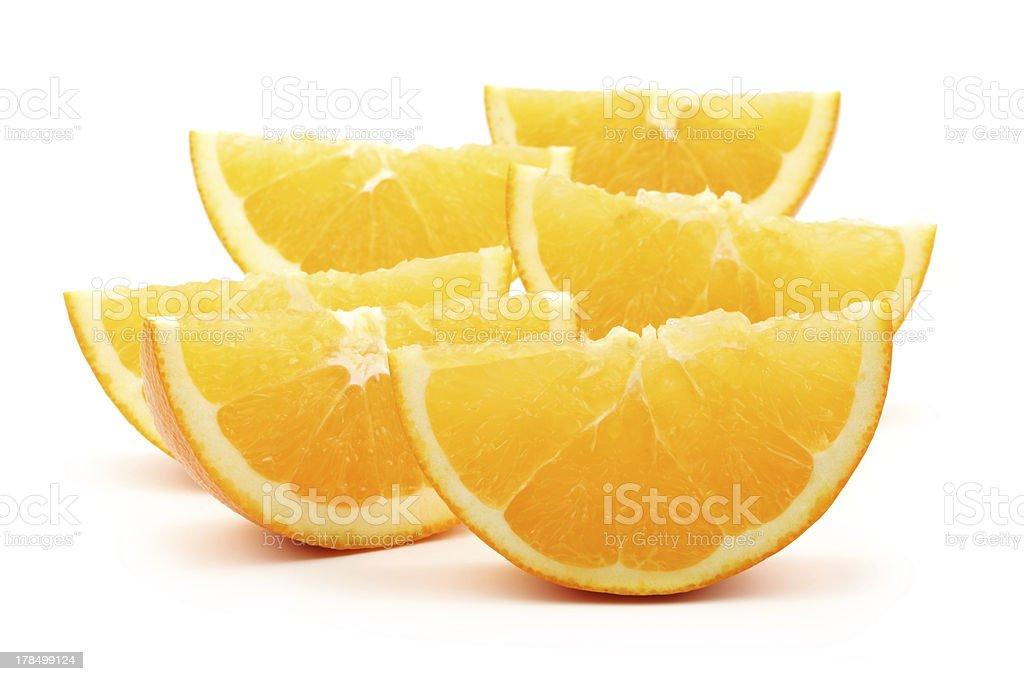 orange fruit segments royalty-free stock photo