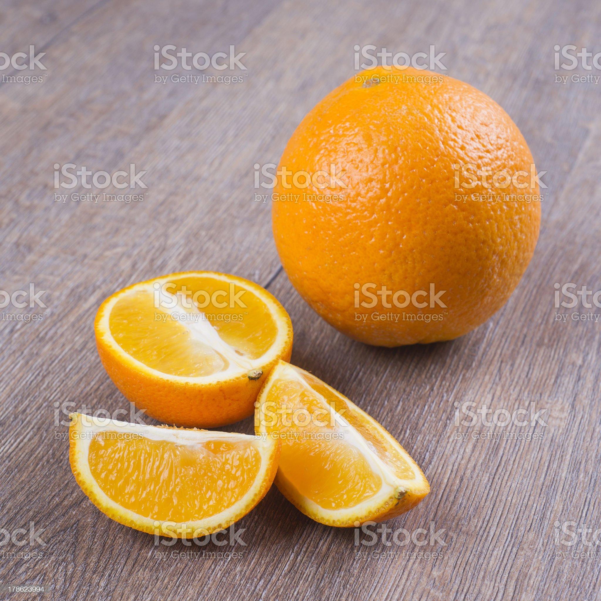 Orange fruits on the table royalty-free stock photo