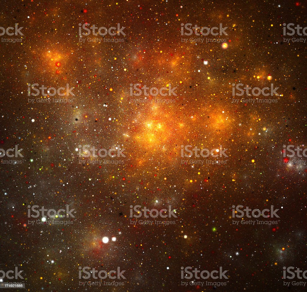 Orange galaxy royalty-free stock photo