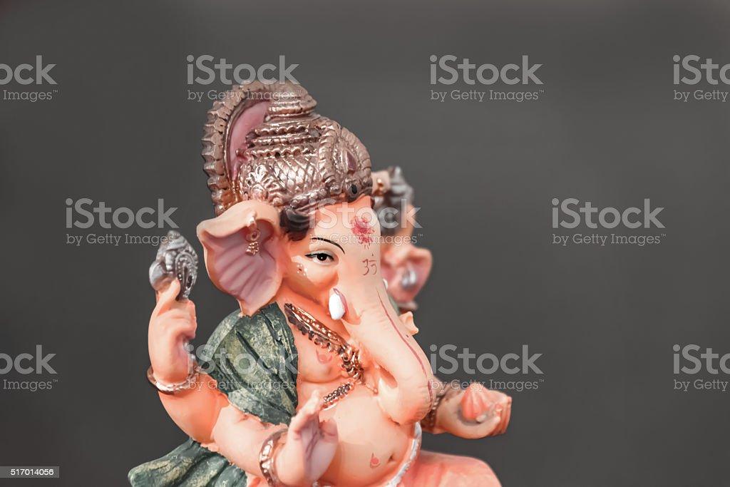 Orange Ganesh (Ganapati- Elephant God) stock photo