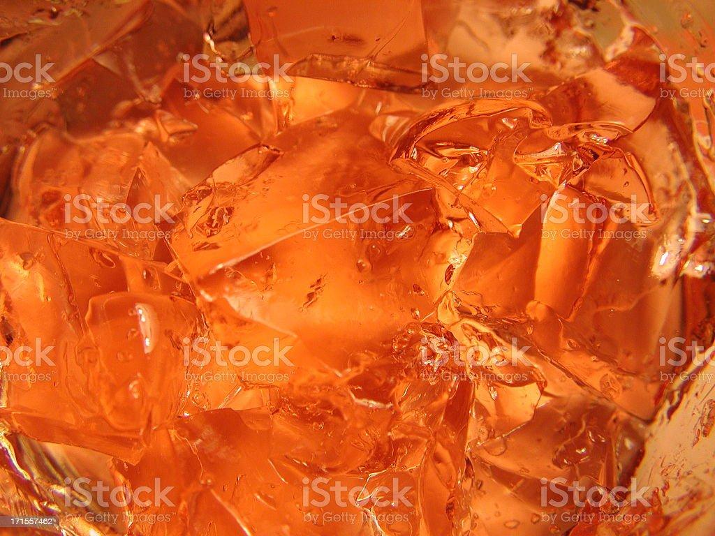 Orange gelatin background royalty-free stock photo