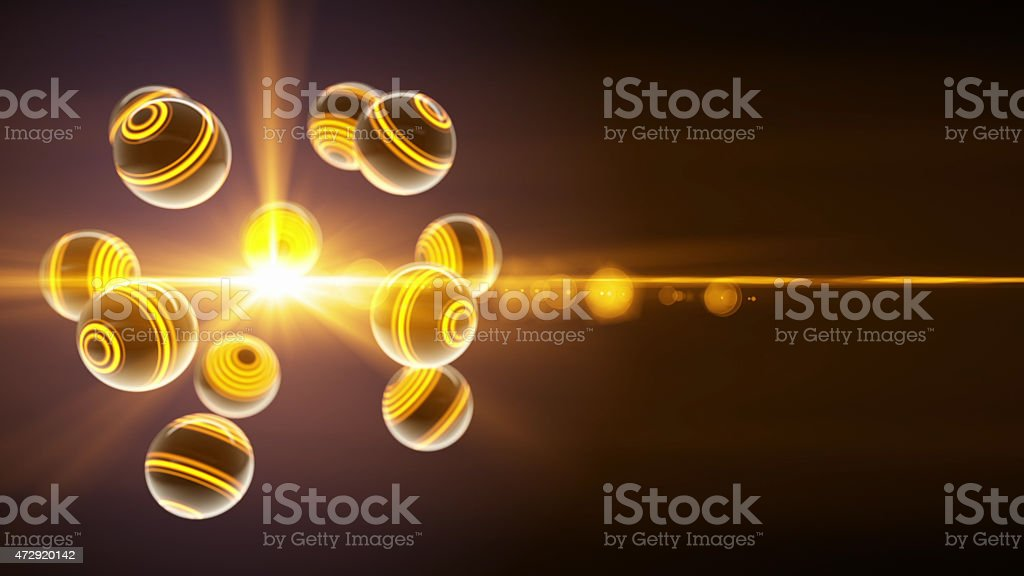 Orange glass spheres stock photo