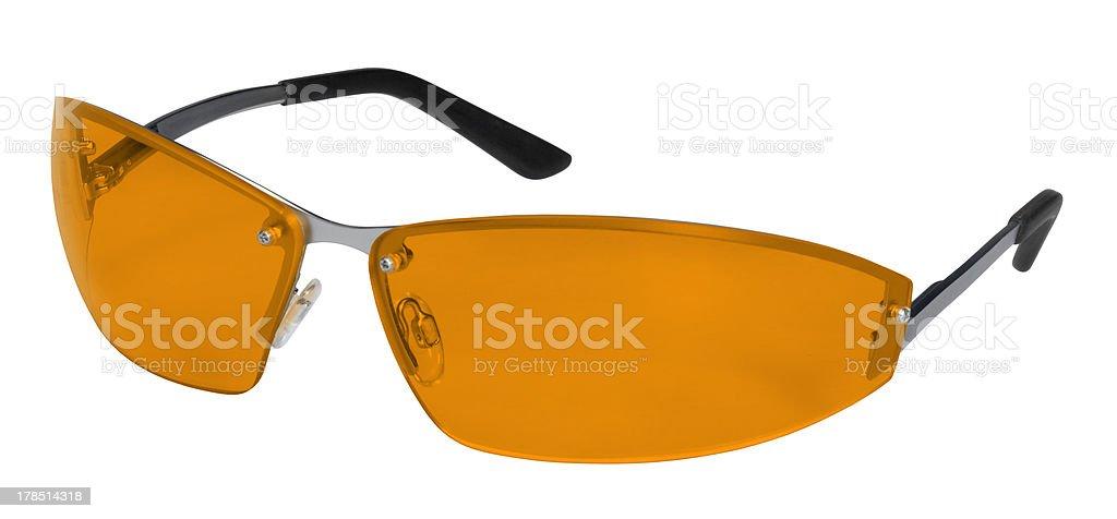 orange goggles stock photo