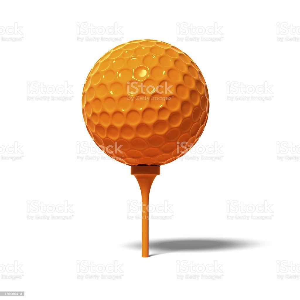 Orange golf ball royalty-free stock photo