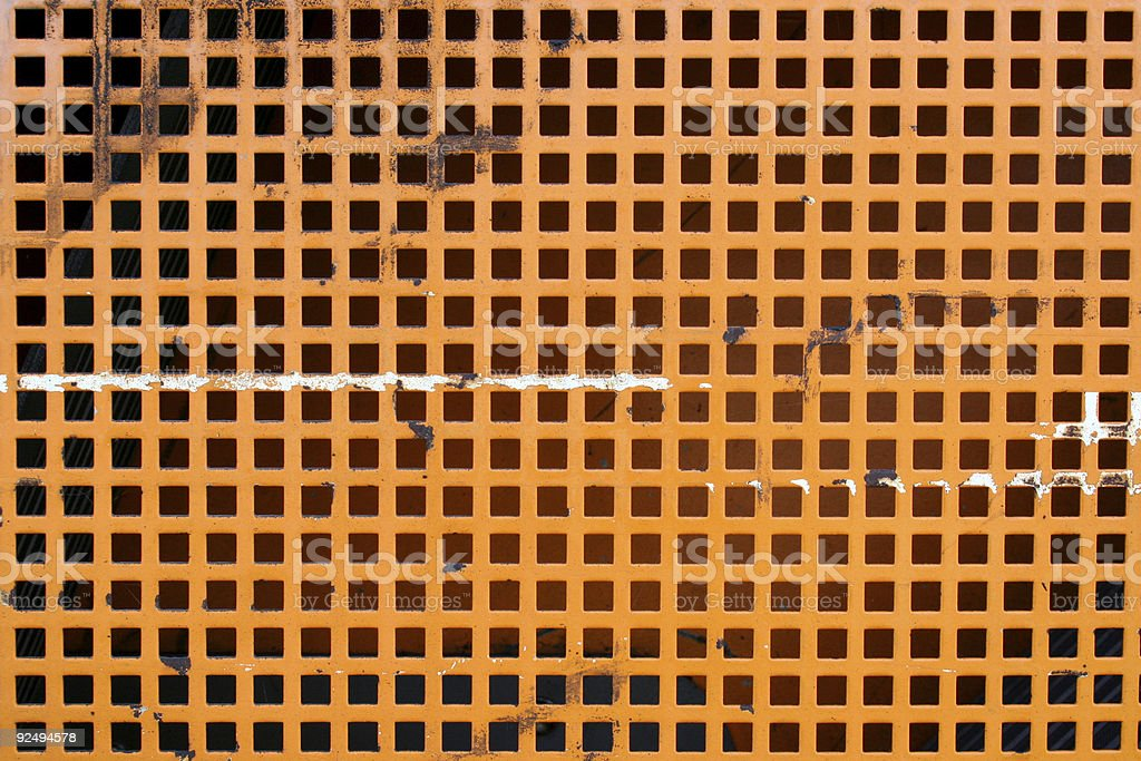 Orange grid texture stock photo
