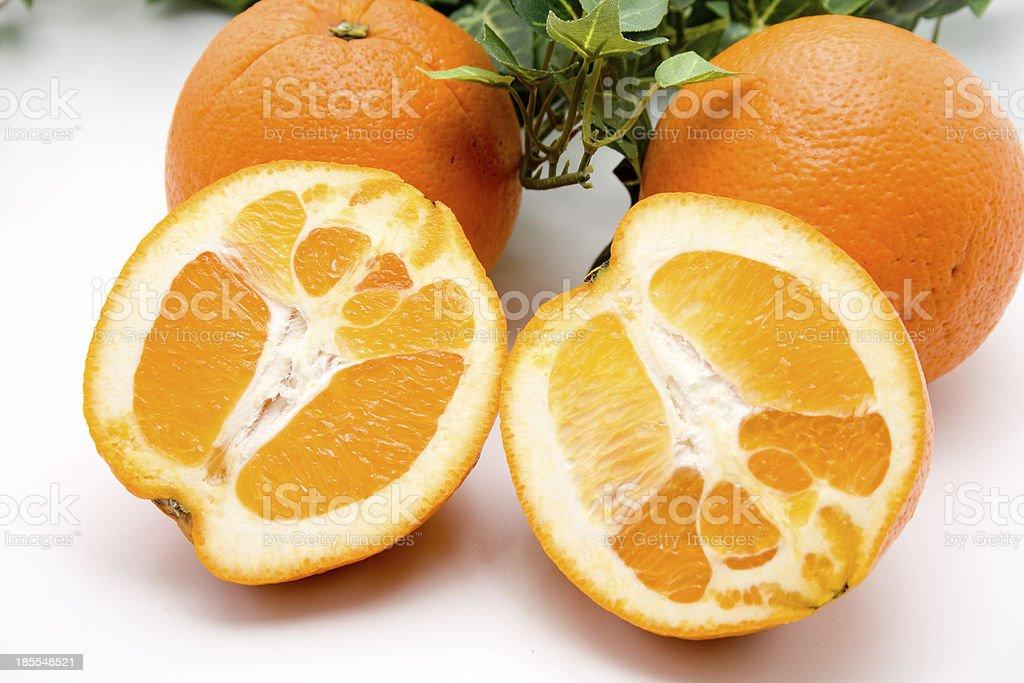 Orange halves royalty-free stock photo