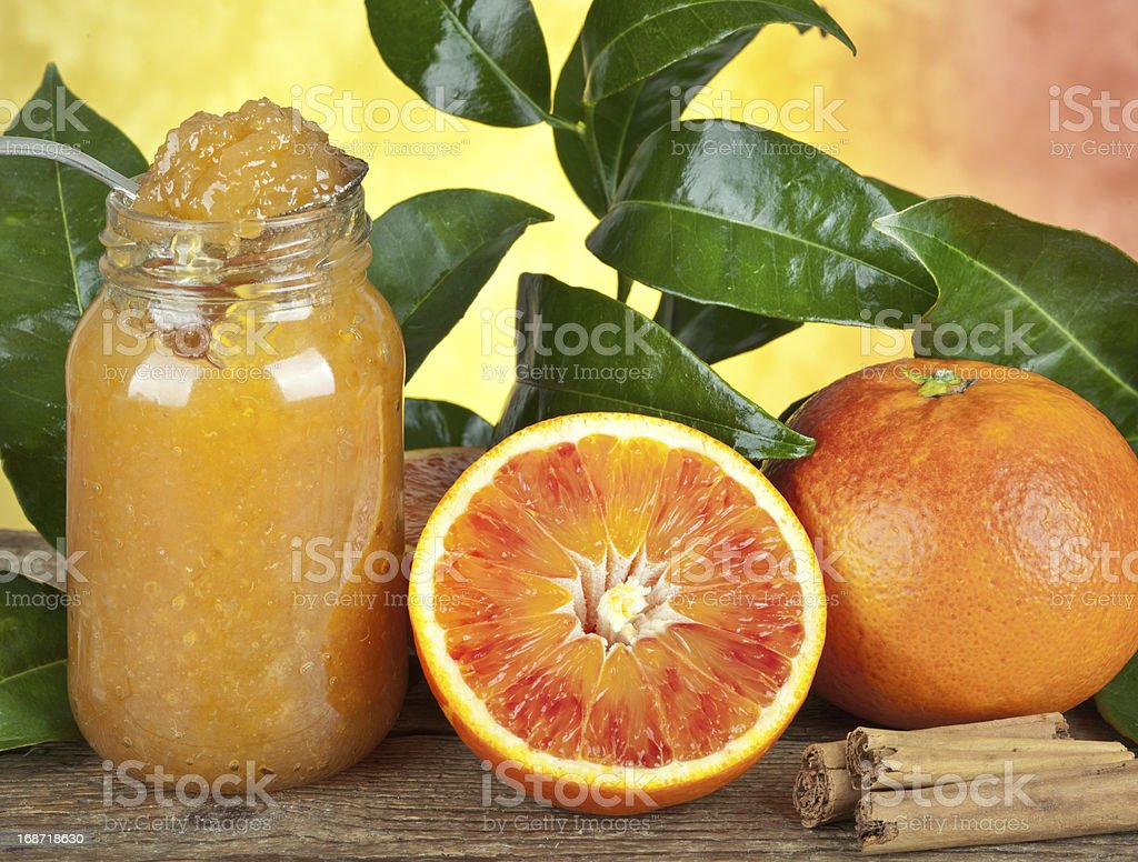 Orange homemade jam royalty-free stock photo