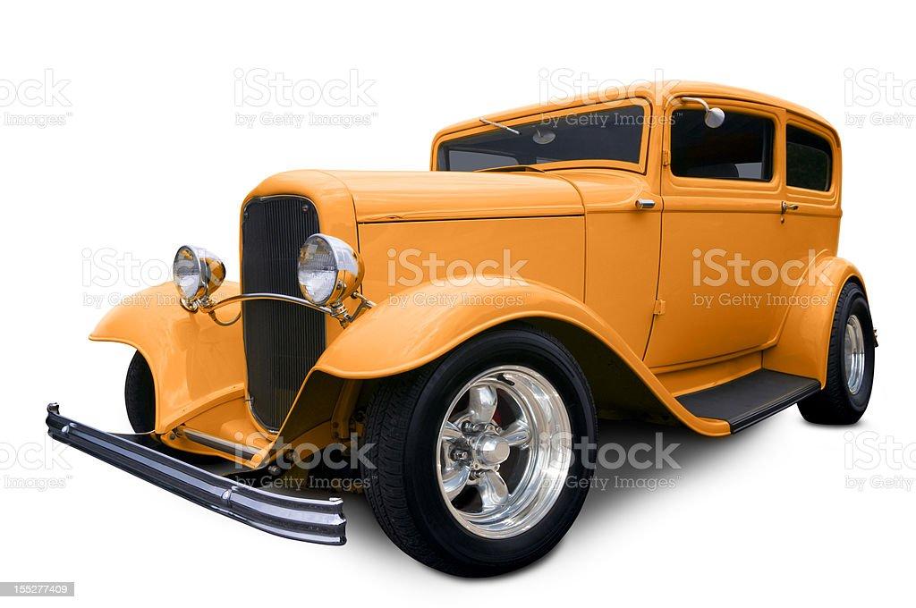 Orange Hot Rod royalty-free stock photo