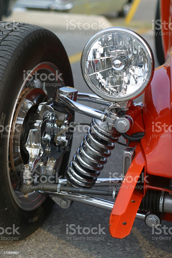 Orange Hot Rod royalty-free stock photo