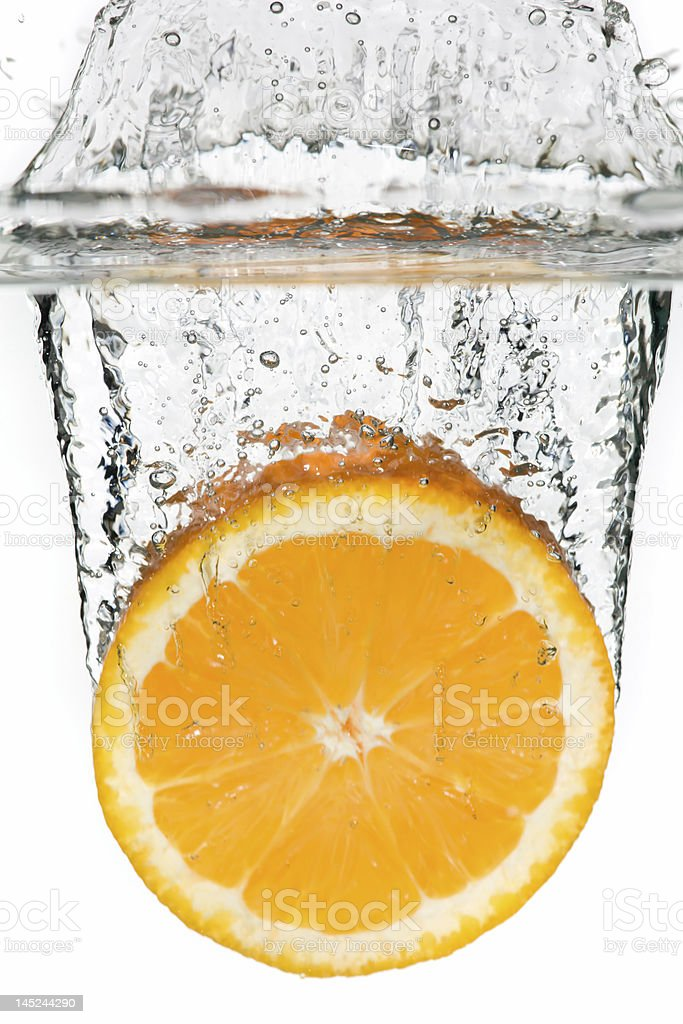 Orange in the water royalty-free stock photo