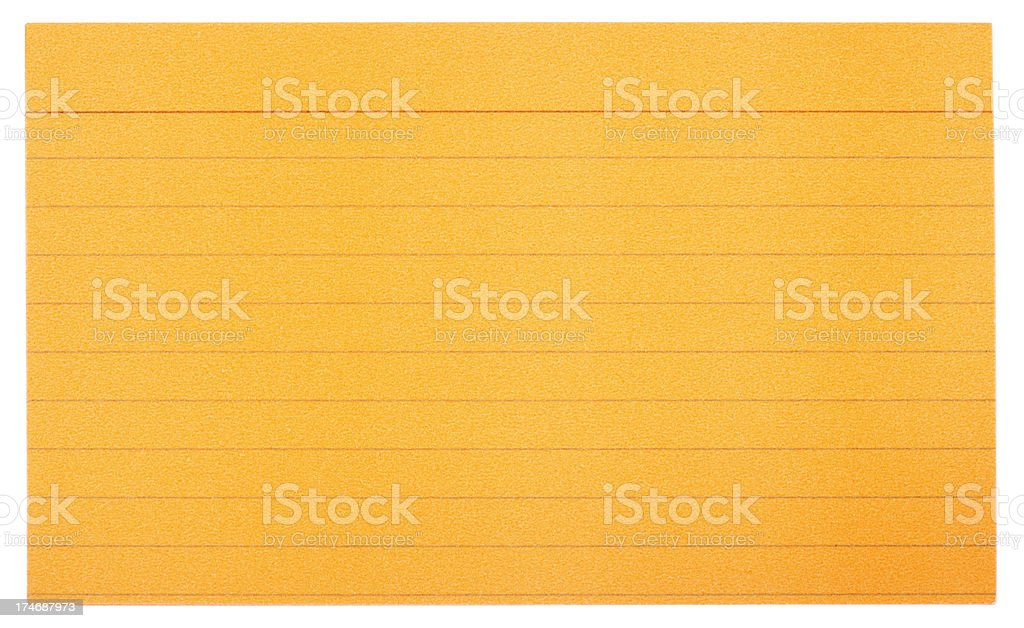 Orange Index Cards royalty-free stock photo