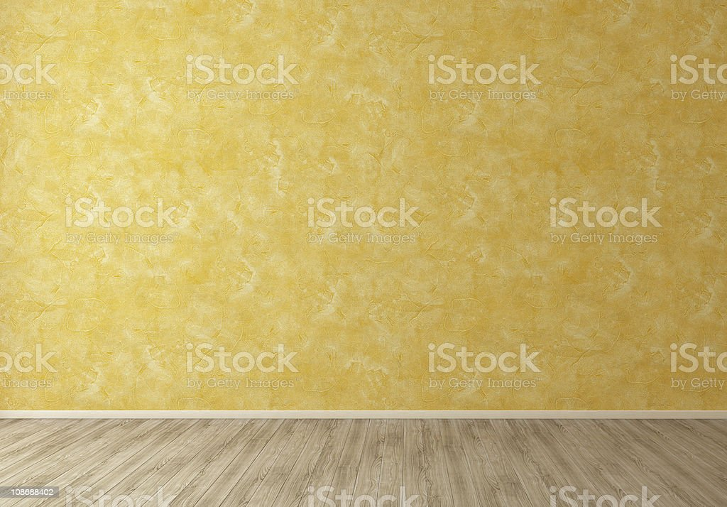Orange Interior Wall in Empty Room Background stock photo