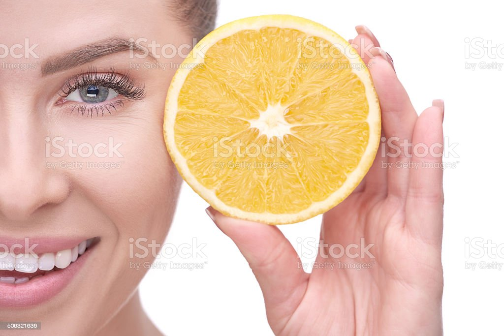orange is great for your health stock photo