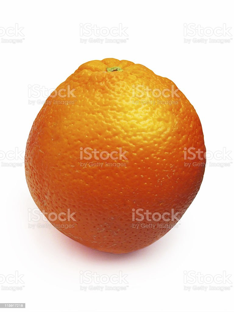 Orange isolated - Clipping path royalty-free stock photo