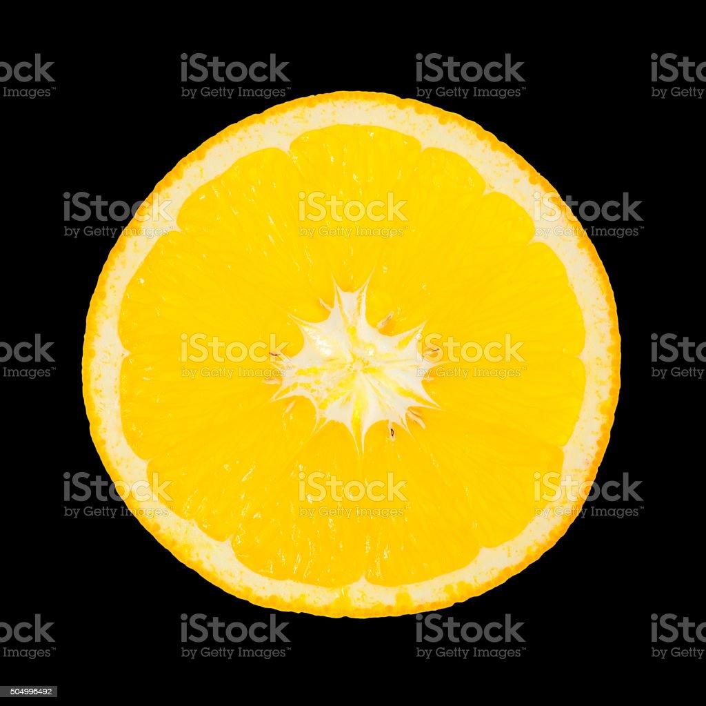 Orange isolated on black background royalty-free stock photo