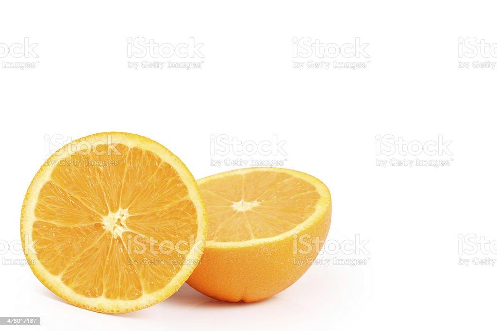 orange  isolated on white background royalty-free stock photo